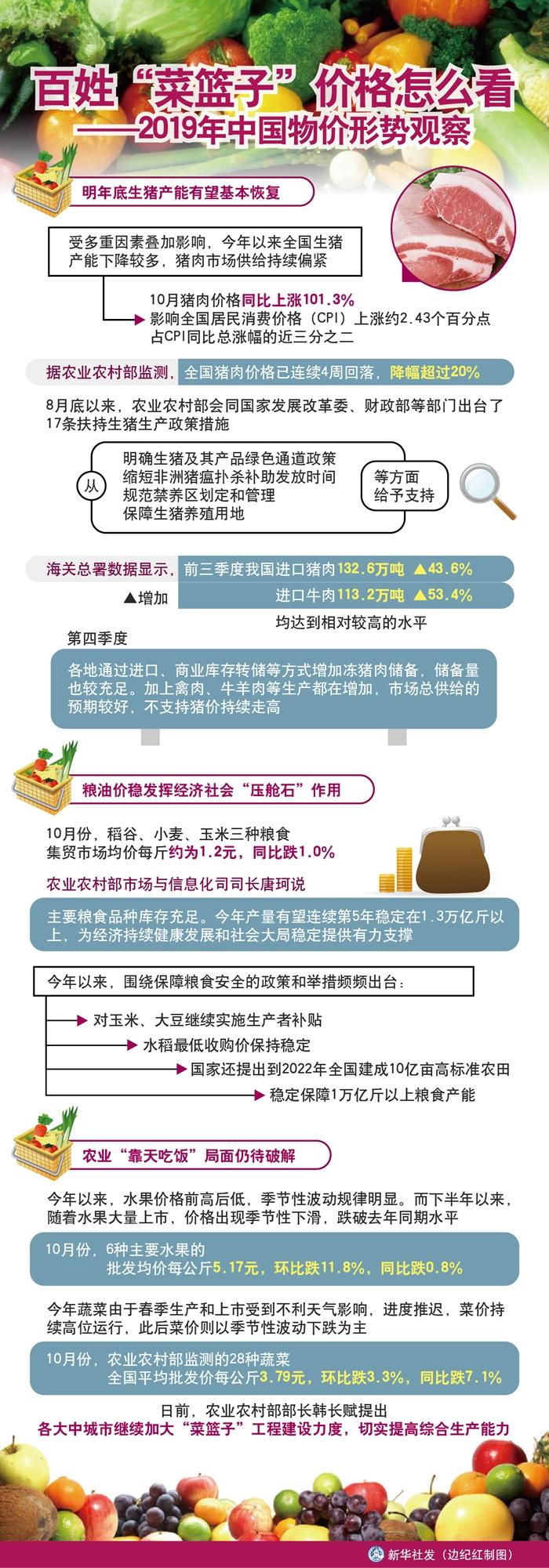 肉价飞涨,百姓菜篮子价格怎么看2019年中国物价形势观察