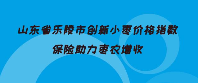 山东省乐陵市创新小枣价格指数保险助力枣农增收