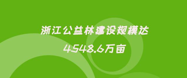浙江公益林建设规模达4548.6万亩