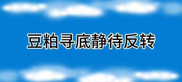【独家】豆粕寻底静待反转