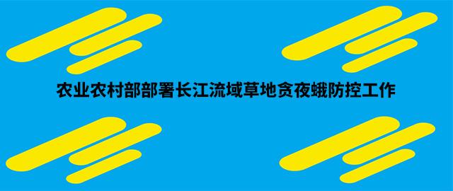 农业农村部部署长江流域草地贪夜蛾防控工作