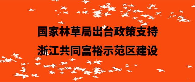 国家林草局出台政策支持浙江共同富裕示范区建设