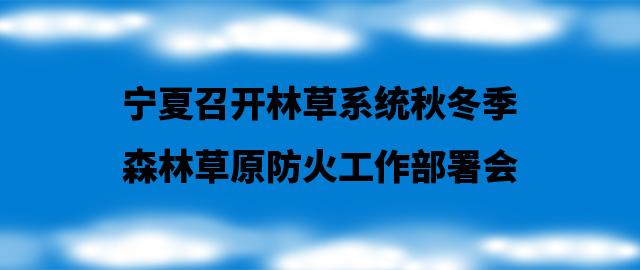宁夏召开林草系统秋冬季森林草原防火工作部署会